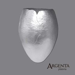 980 Grated Silver Flower Vase