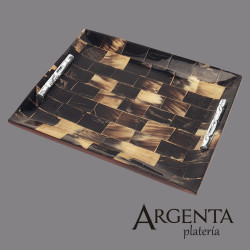 Cacho veneer tray with...