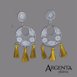 Filigree earring - Gold color